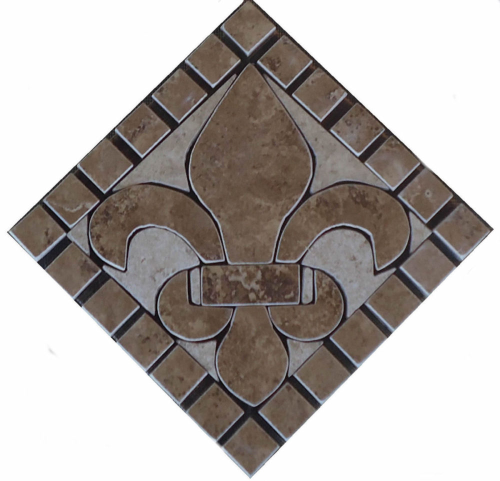 charro porcelain tile fleur dis lis mosaic deco jdyermosaics. Black Bedroom Furniture Sets. Home Design Ideas
