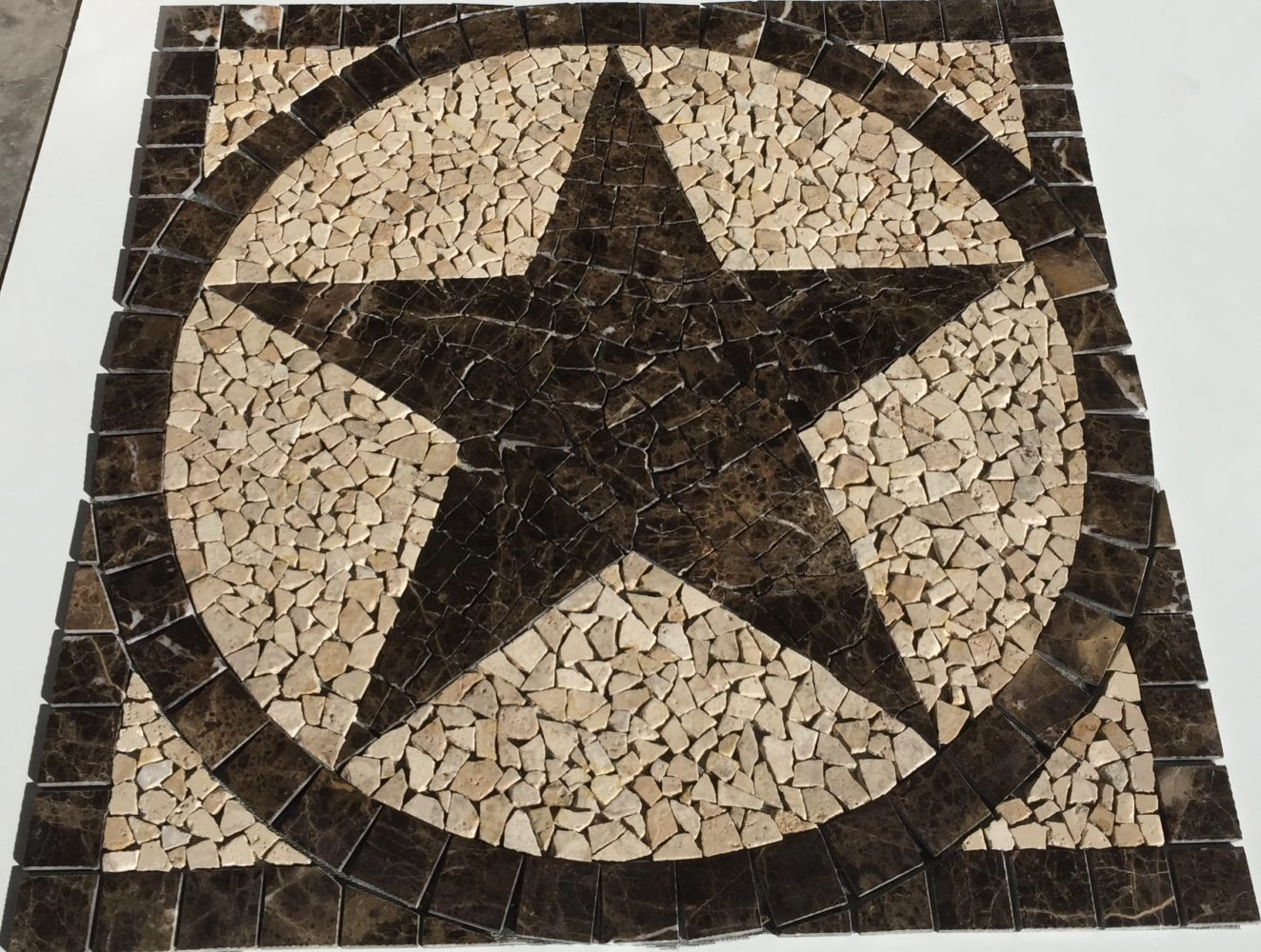 36 Emperor Marble Texas Star Mosaic Medallion Backsplash Floor Design Mural Jdyermosaics
